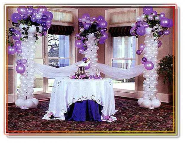 Оформление шарами оформление свадеб
